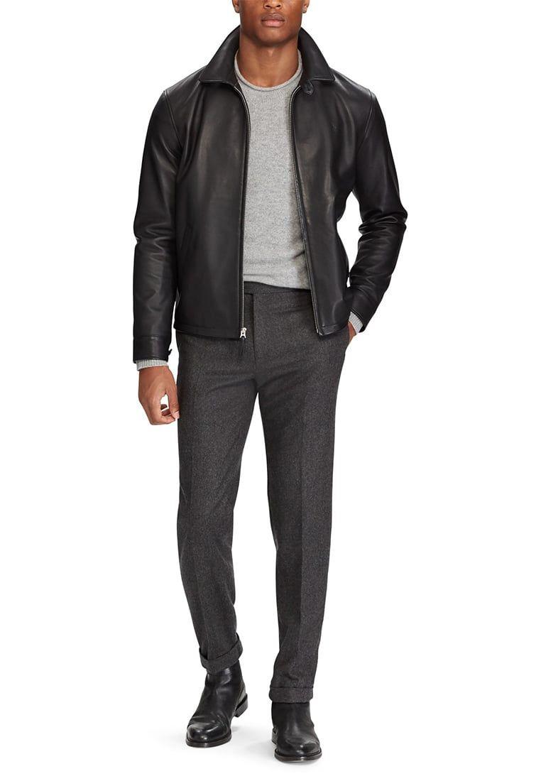 Polo Ralph Lauren MAXWELL - Chaqueta de cuero - black Ib71uSw3