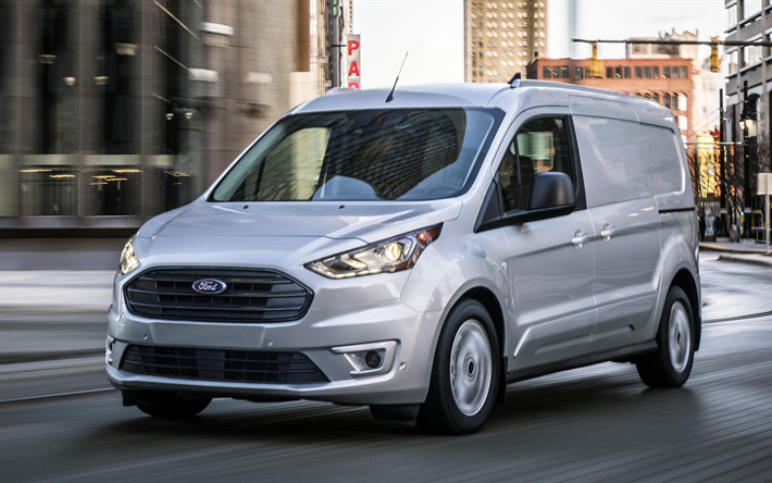 Download Wallpapers Ford Transit Connect Wagon 4k Road 2019