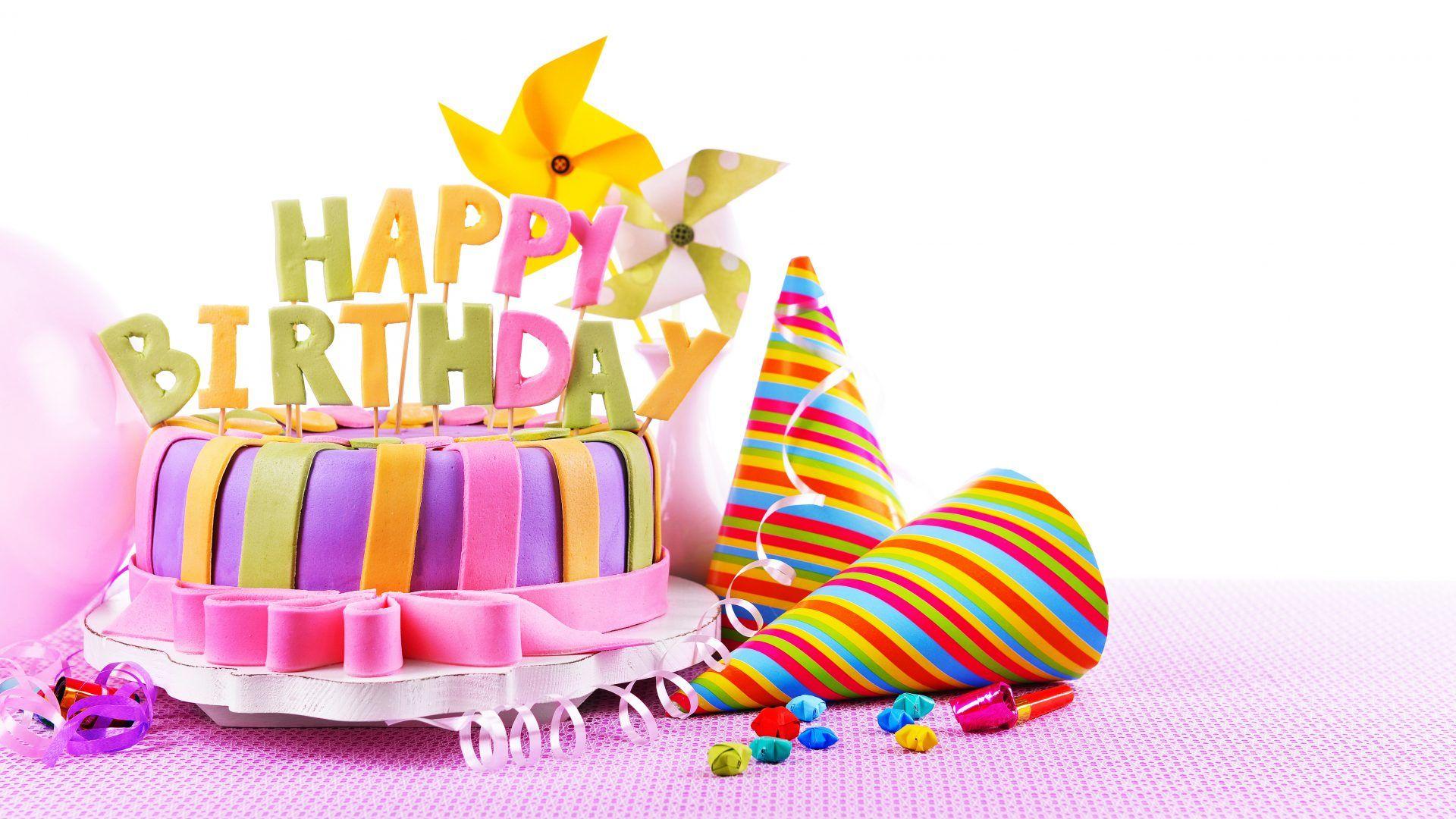 Cheerful happy birthday cake HD Wallpapers Rocks