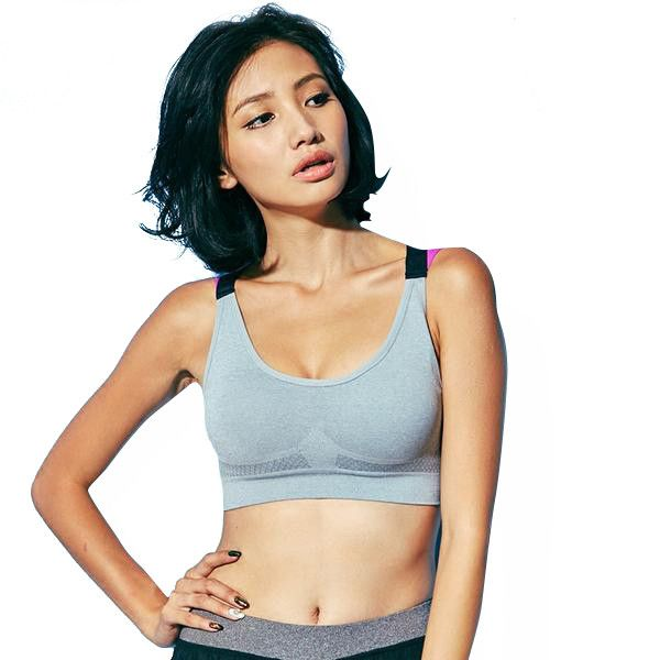 222fee303bc984 Fitness Yoga Sports Bra Push Up Padded for Womens Gym Running Tank Top  Athletic Vest Underwear Shockproof Strappy Sport Bra Top