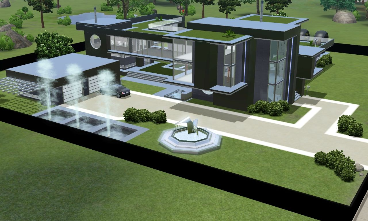 Modern House The Sims 3 Google Zoeken Futuristic Home Modern House Floor Plans House Architecture Design