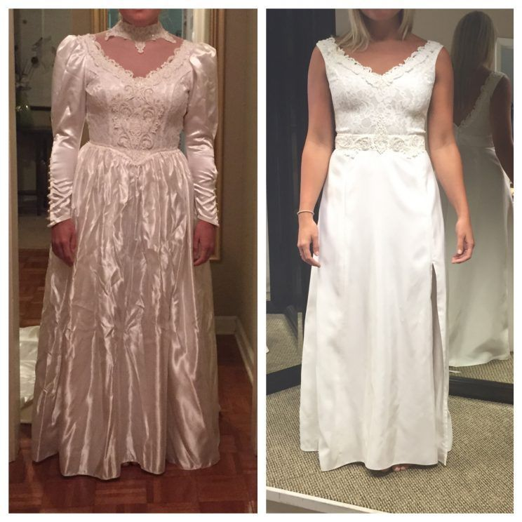 Vintage Wedding Dresses 80s: Bride Totally Transforms Her Mother's '80s Wedding Gown