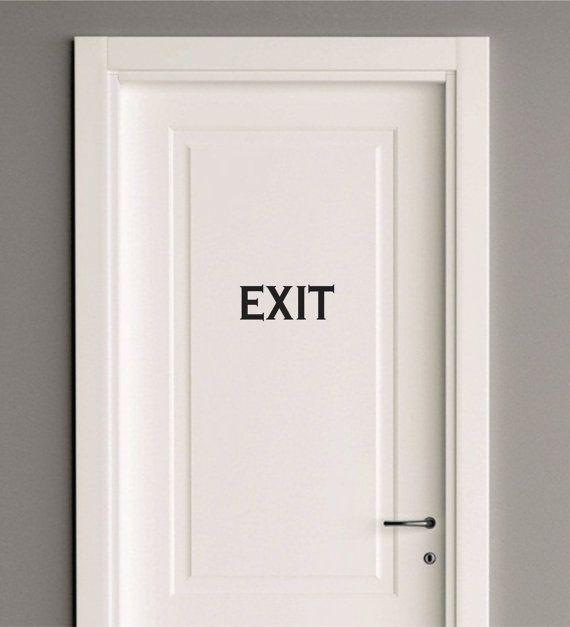 EXIT door lettering - vinyl letters - sign - vinyl decal for door - Exit word wall decal - vinyl wall decal for home or office door - exit & EXIT door lettering - vinyl letters - sign - vinyl decal for door ... pezcame.com