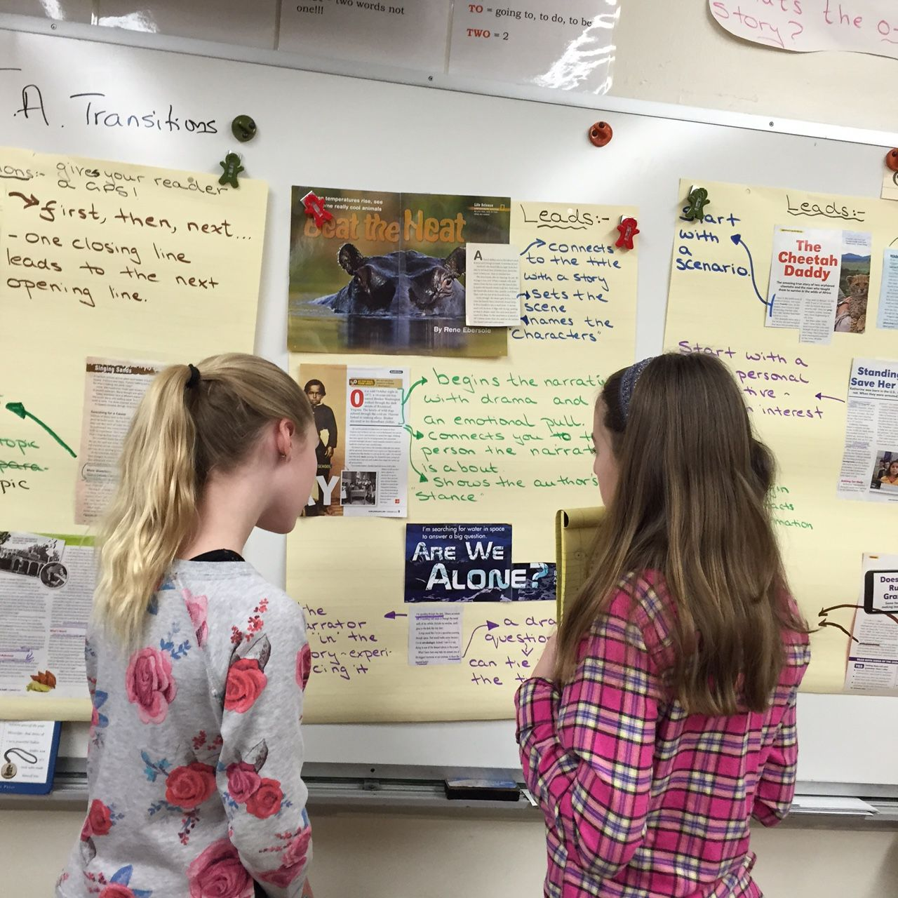 Charts and mini charts to anchor writing moves. Excellent post on how to use anchor charts to support our writers' growing independence