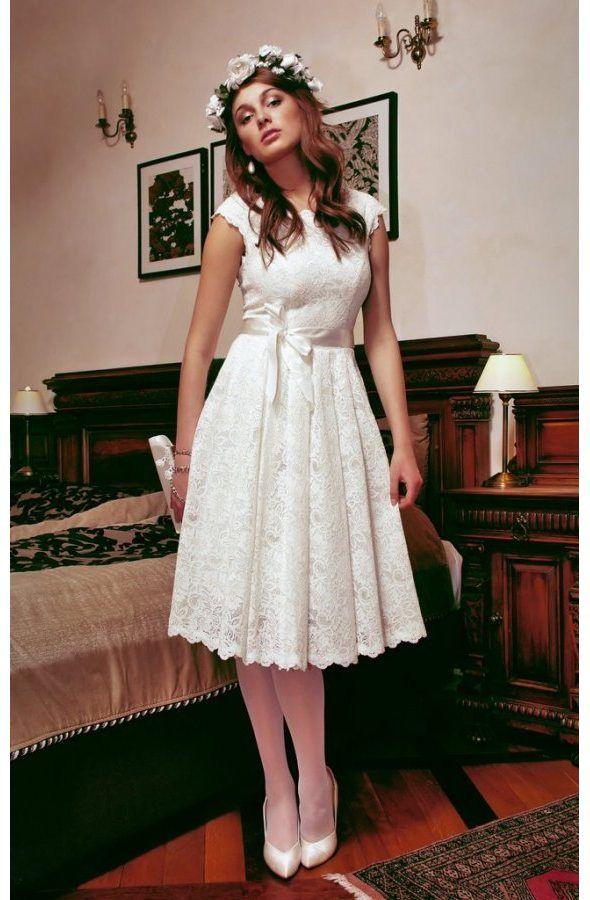 Short Wedding Dress Made Of Lace