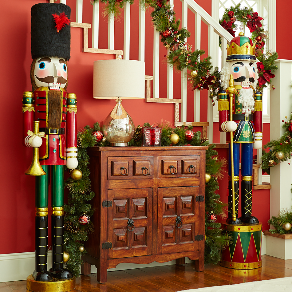 let a couple of life size nutcrackers stand guard to give christmas