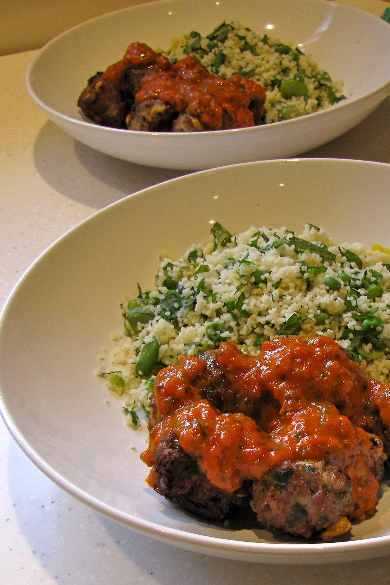 Finally Ottolenghi - turkey meatballs and roast capsicum ...
