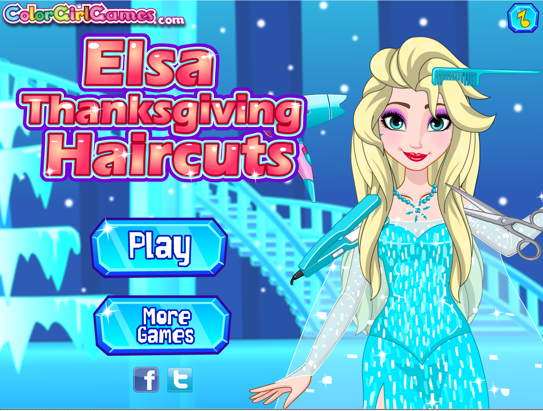Elsa Thanksgiving Haircuts Frozen Disney Elsa Haircuts Thanksgiving Holiday Games Play More Games Games For Girls New Girl