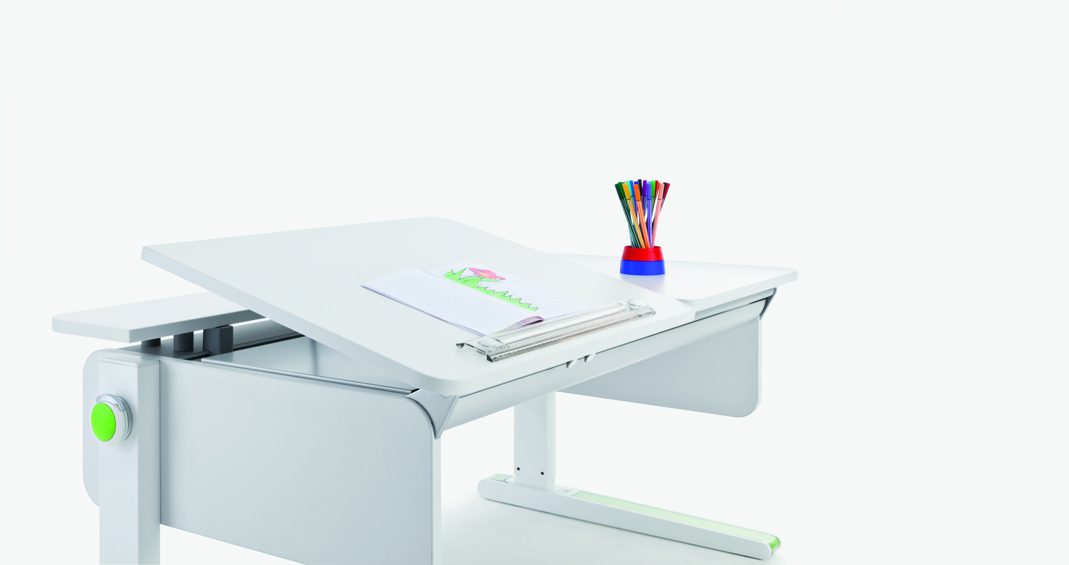 the moll Champion ergonomic study table, Left-Up version ...