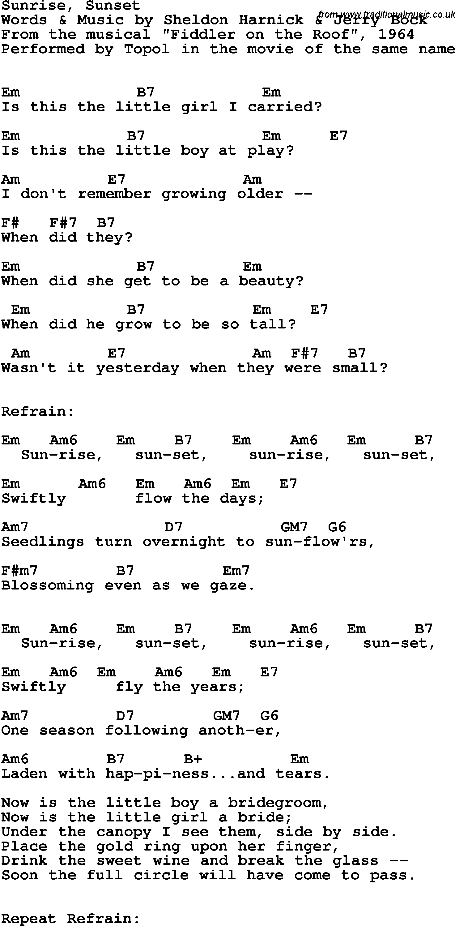 Song lyrics with guitar chords for sunrise sunset topol 1964 song lyrics with guitar chords for sunrise sunset topol 1964 nvjuhfo Image collections