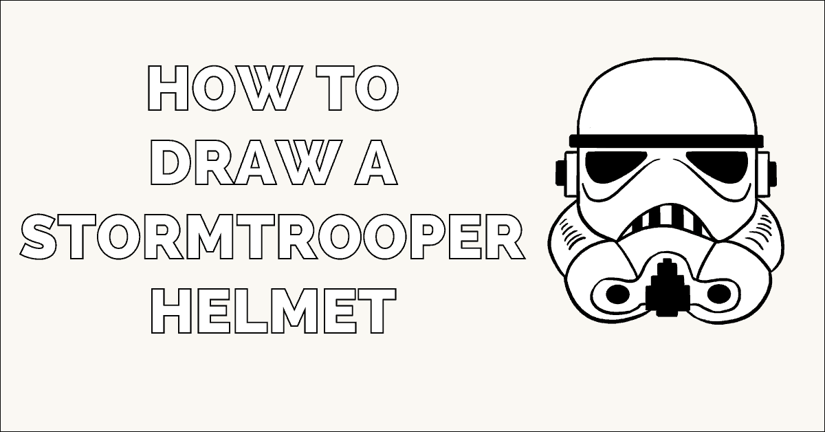Learn to draw a stormtrooper helmet. This step-by-step ...