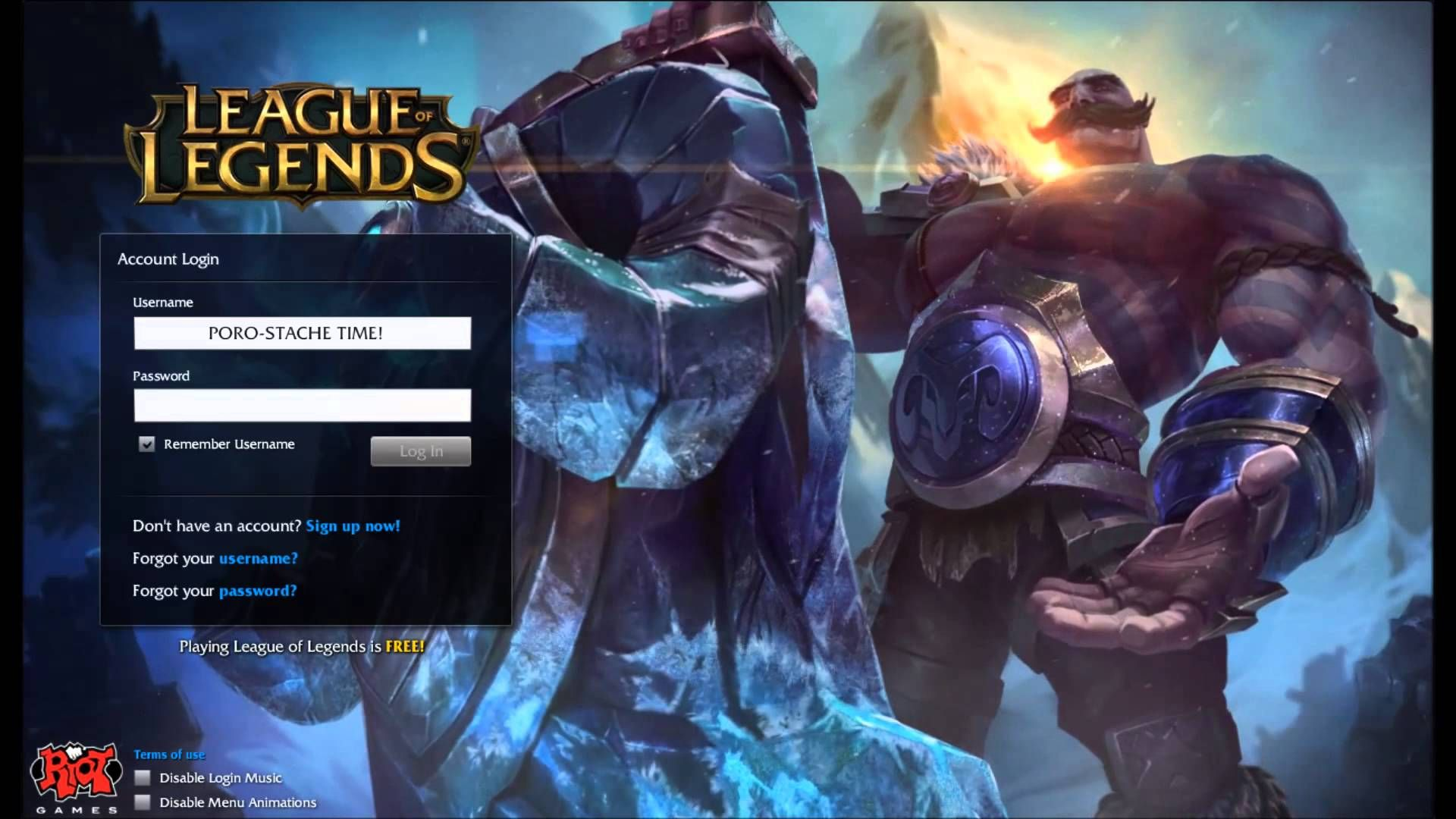 League of Legends Braum Login Screen + Music | cause_A_riot | League