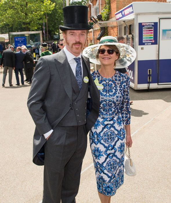 Damian Lewis and Helen McCrory attend day 1 of Royal Ascot at Ascot Racecourse