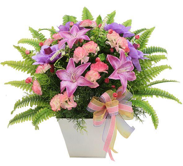 arreglo de flores en color rosa para centro de mesa