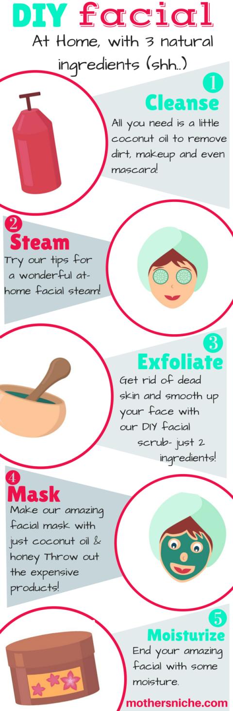 Easy DIY Facial at Home Diy skin care, Coconut oil for
