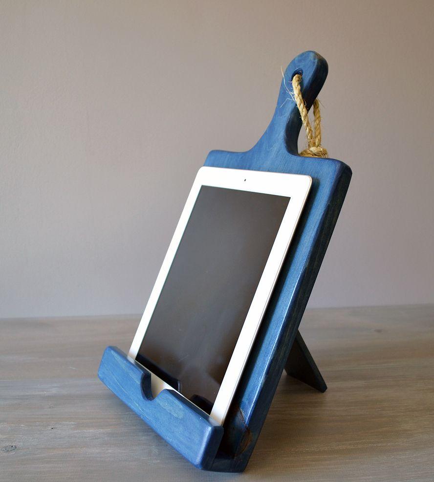Wood cutting board ipad stand blue roostic cool crap i want