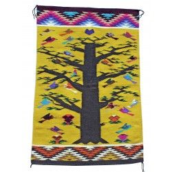 Jolita Williams, Tree of Life Rug, Navajo Handwoven, 39 in x 26 in