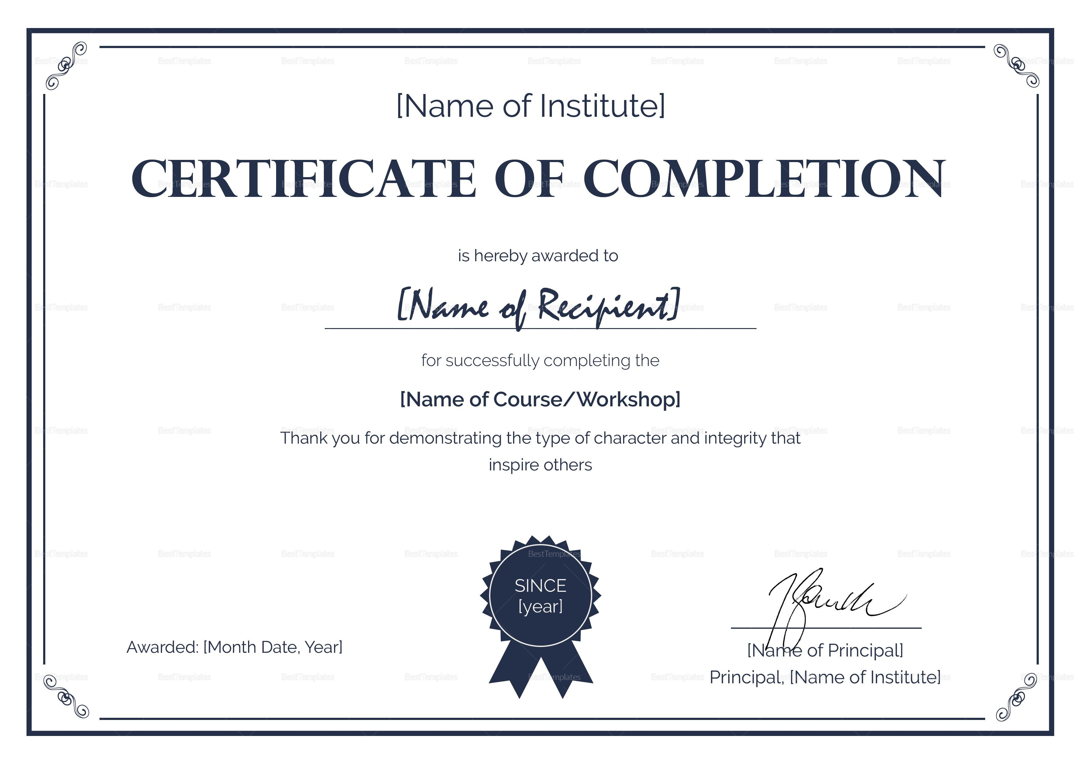 Certificate Of Completion Makeup Certificate Template Rose Etsy Certificate Of Completion Certificate Templates Custom Soap Labels