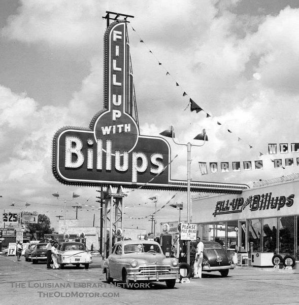 Early 1950 S Billups Gas Station In Louisiana Old Gas