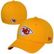 hot sale online 8c660 bb1d7 New Era Kansas City Chiefs Big Logo 39THIRTY Flex Hat - Gold