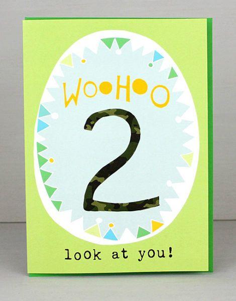2nd Birthday Card For Boys Card Ideas Pinterest Birthdays And