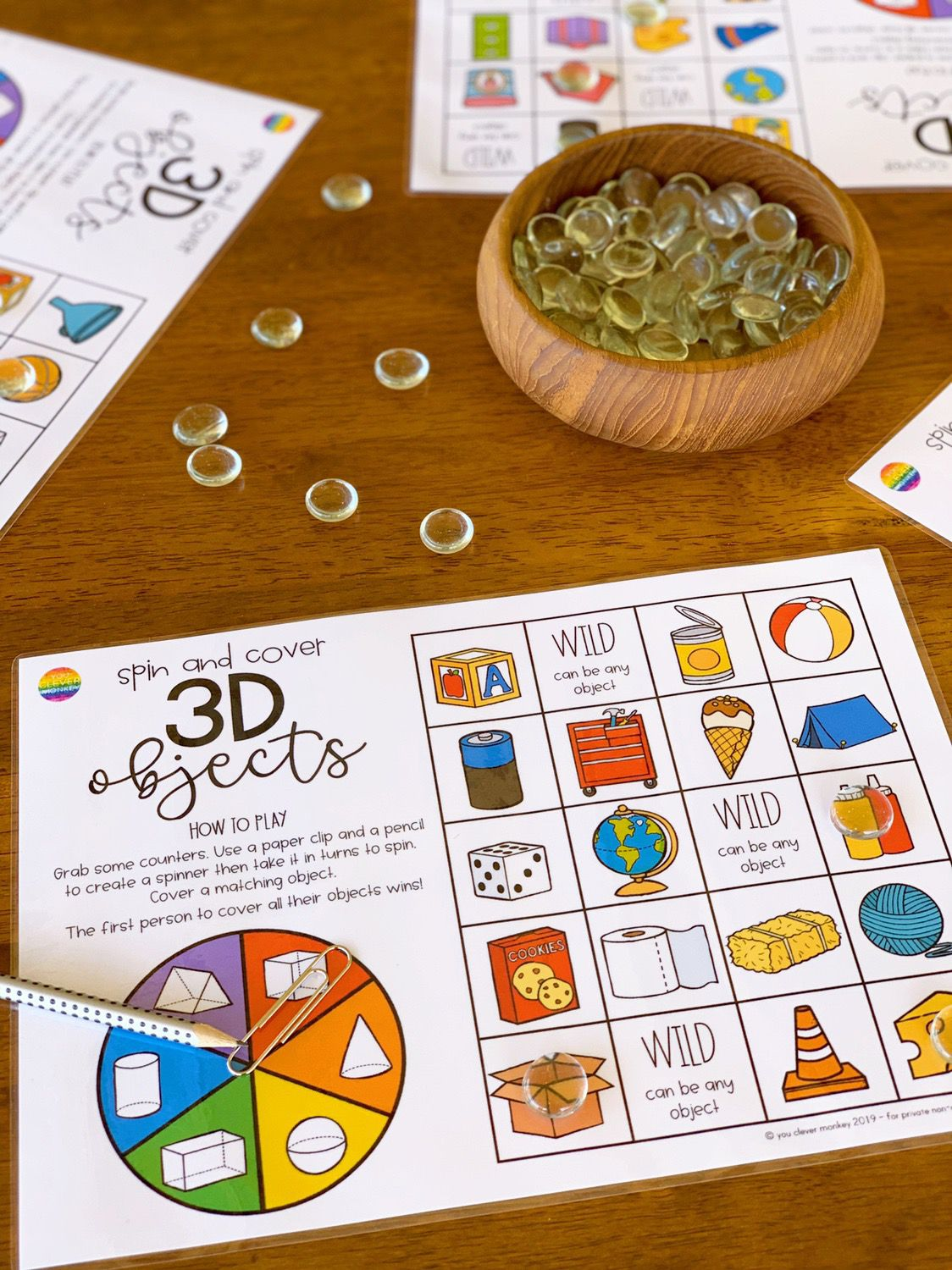 3d Object Spin Cover Mats