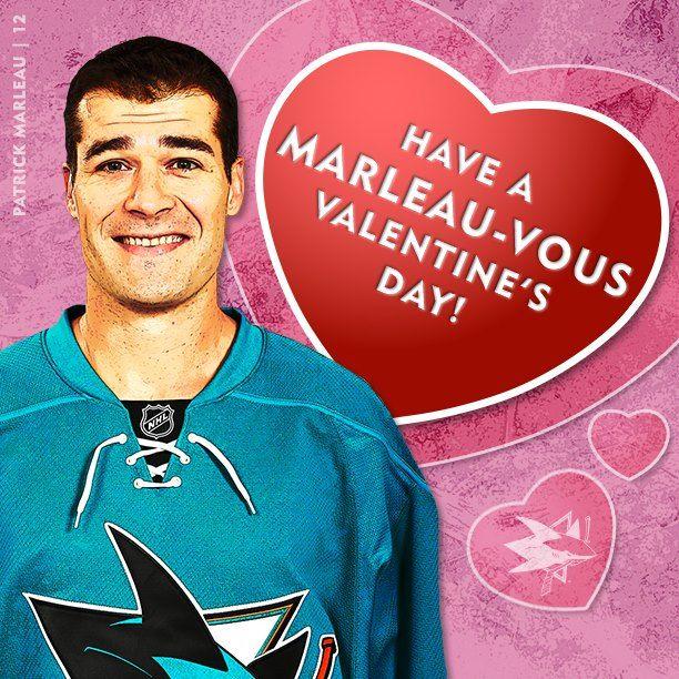 valentines day card shark - San Jose Sharks Patrick Marleau Valentine s Day Card