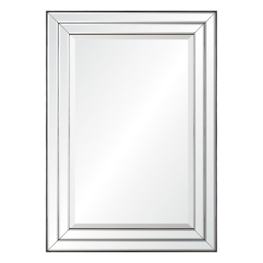 Allen Roth 33 85 In L X 23 85 In W Mirror On Mirror Beveled Wall Mirror Lowes Com Beveled Mirror Bathroom Mirror Wall Transitional Wall Mirrors