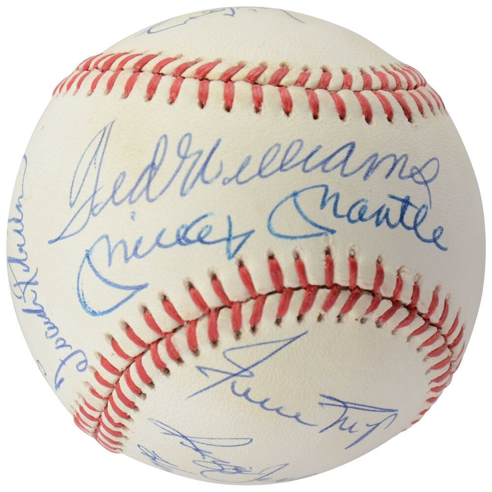 500 Home Run Club Autographed Vintage Baseball With 11 Signatures Psa Sportsmemorabilia Autograph Baseball With Images Vintage Baseball Homerun Baseball Online