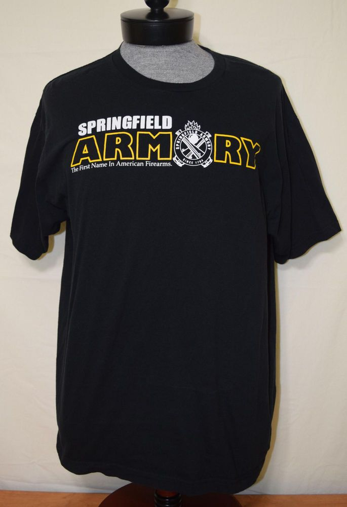 Springfield Armory XDM Red Logo T-Shirt 2nd Amendment Pro Gun Tee Firearms Rifle