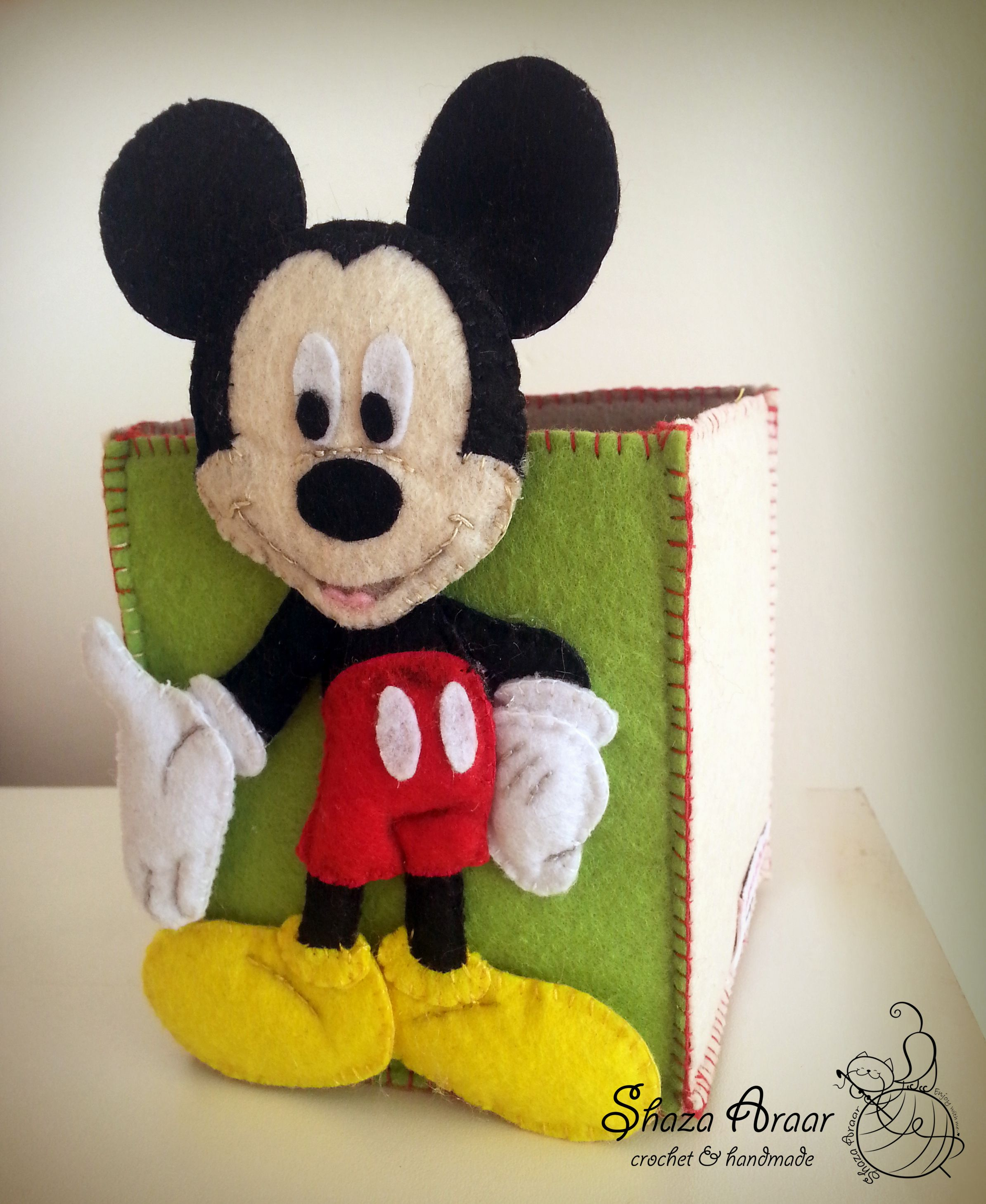 felt box mickey mouse my new work