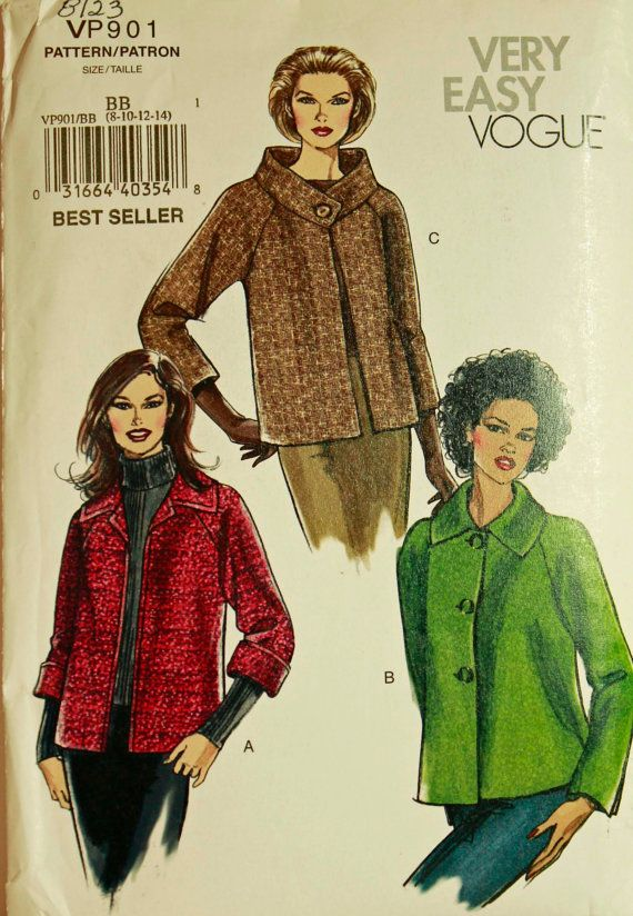 Jacket Set 2000 S Vogue Pattern 8123 Or Vp901 By Patterntreasury