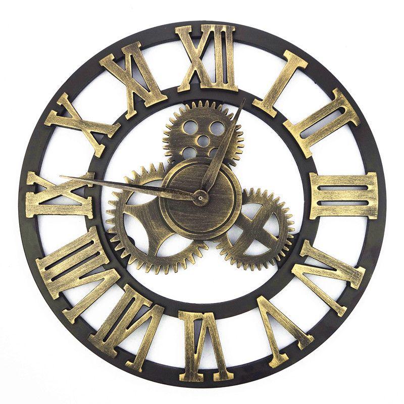 Pas Cher Main Retro Vintage Design 3d Art Industriel Mur De Vitesse Horloge Pour Cadeau Acheter Horloges Murales De Qualite Directeme Horloge Murale Horloge
