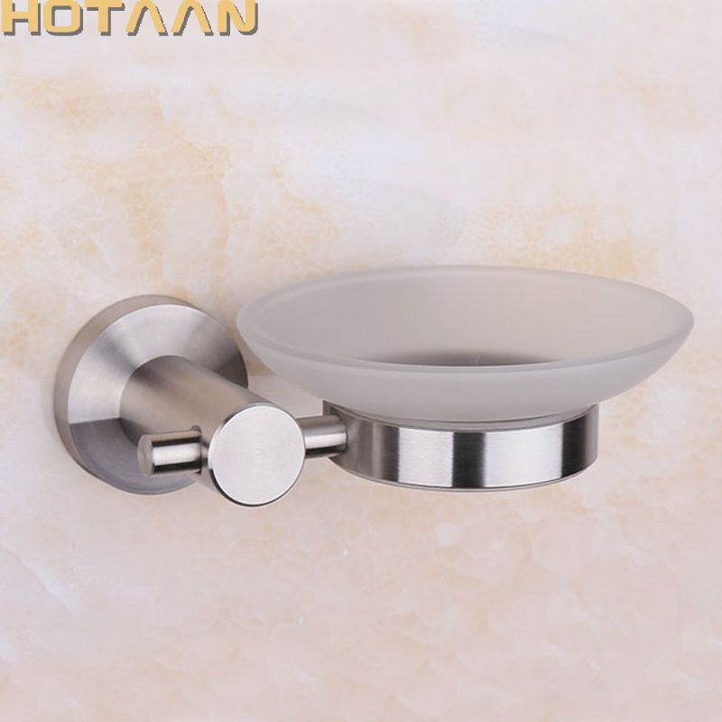 Wall Mounted Sus 304 Stainless Steel Satin Nickel Soap Dishes Brand Bathroom Accessories Gl Dish