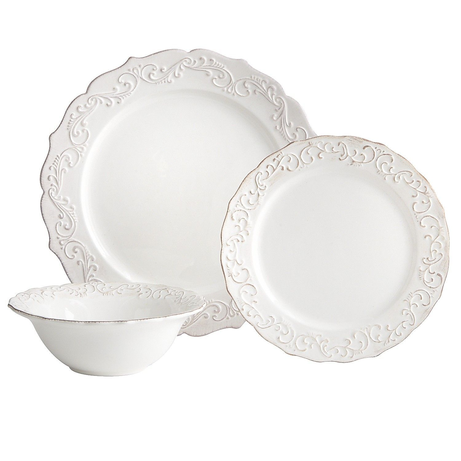 Antique Scroll Dinnerware from Pier1 - LOVE this for formal dining holidays etc.  sc 1 st  Pinterest & Antique Scroll White Dinnerware | Dinnerware Kitchen redo and Ware F.C.