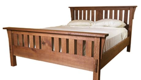 Build A Mission Style Bed With Images Mission Style Beds