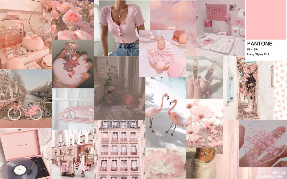 Pink Collage Computer Wallpaper Aesthetic Soft Pink Computer Collage Computer Wallpaper Desktop Wallpapers Aesthetic Desktop Wallpaper Desktop Wallpaper Art computer wallpaper desktop wallpapers