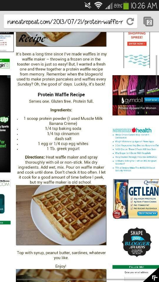 Protein waffles!