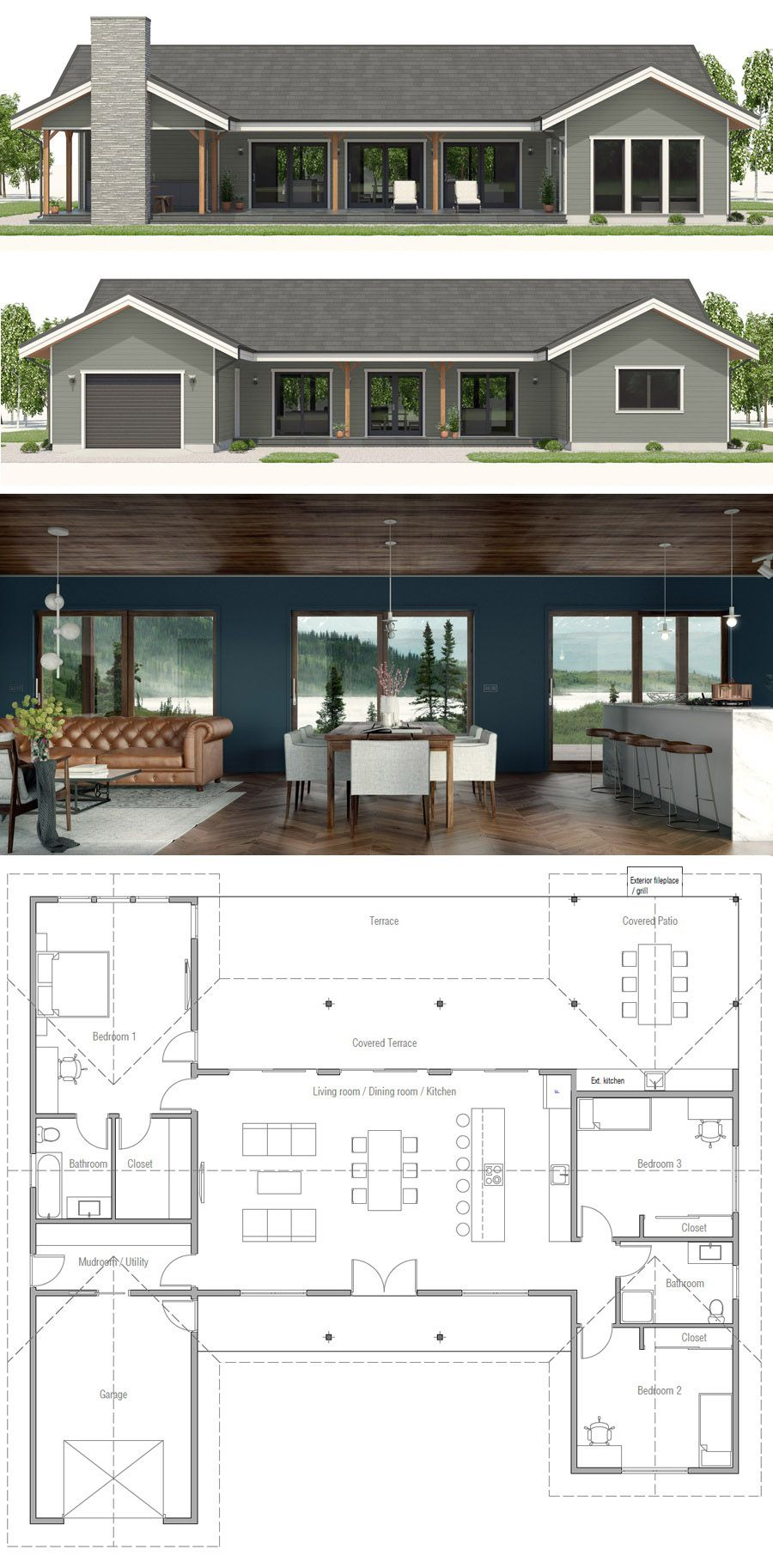 Home Homes Modern Farmhouse Modernfarmhouse New House Plans Small Home Plan Small House Floor Plans
