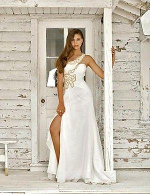 A-Line Long Prom Dresses Natural Satin Prom Dresses 01870