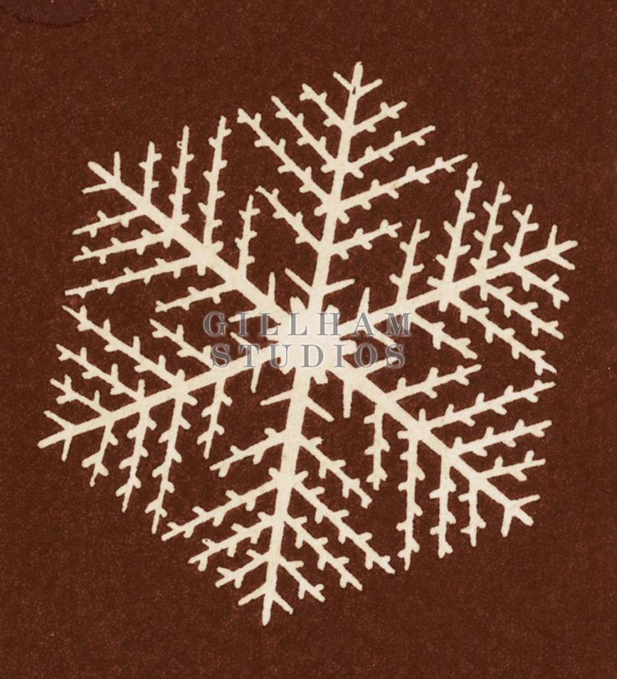 Outline of feathery snowflake : available at GillhamStudios.com #hallmark #royaltyfree