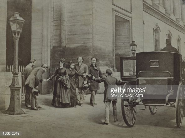 The Empress Eugenie going into exile from Paris Pictures   Getty Images