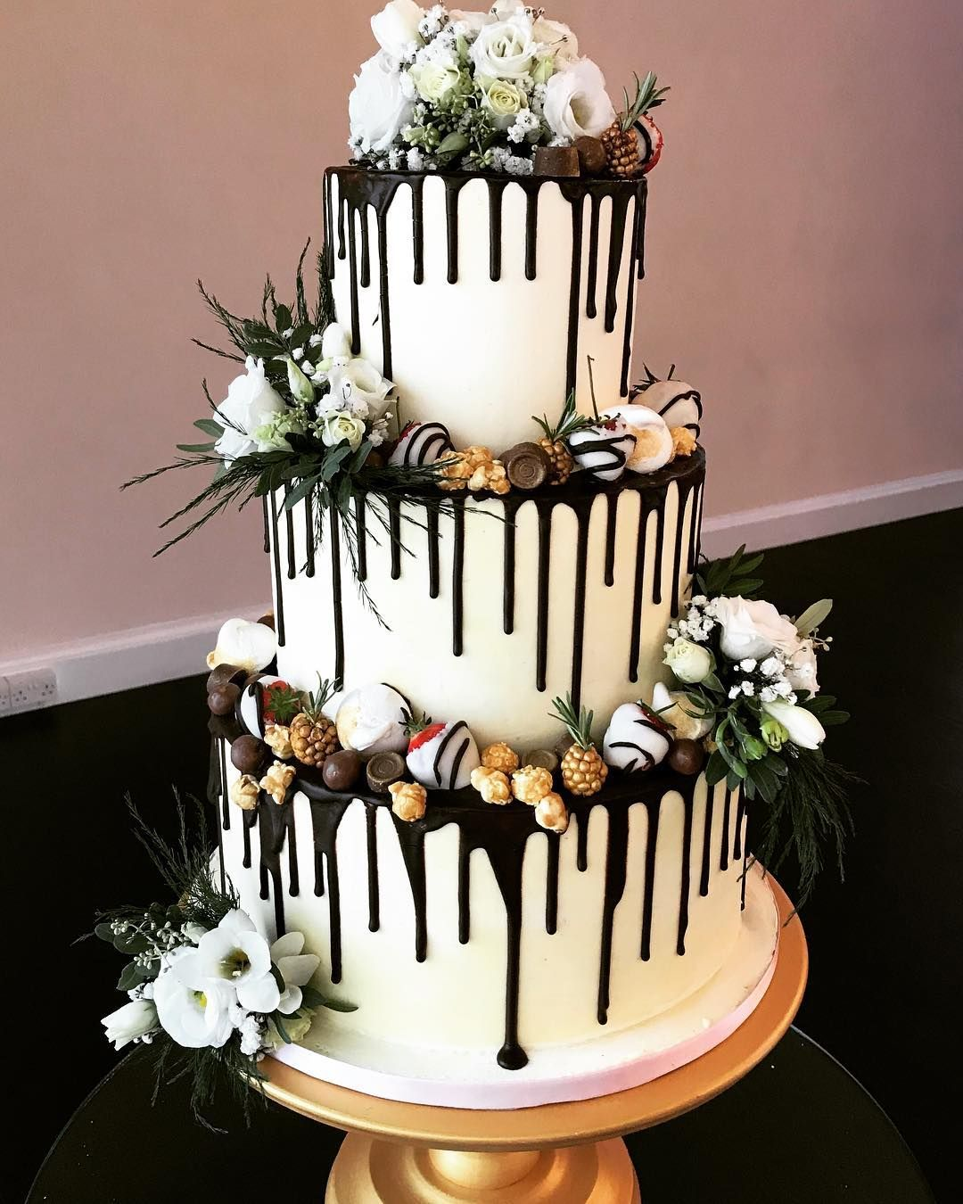 Buttercream chocolate drip cake for m a at botleys