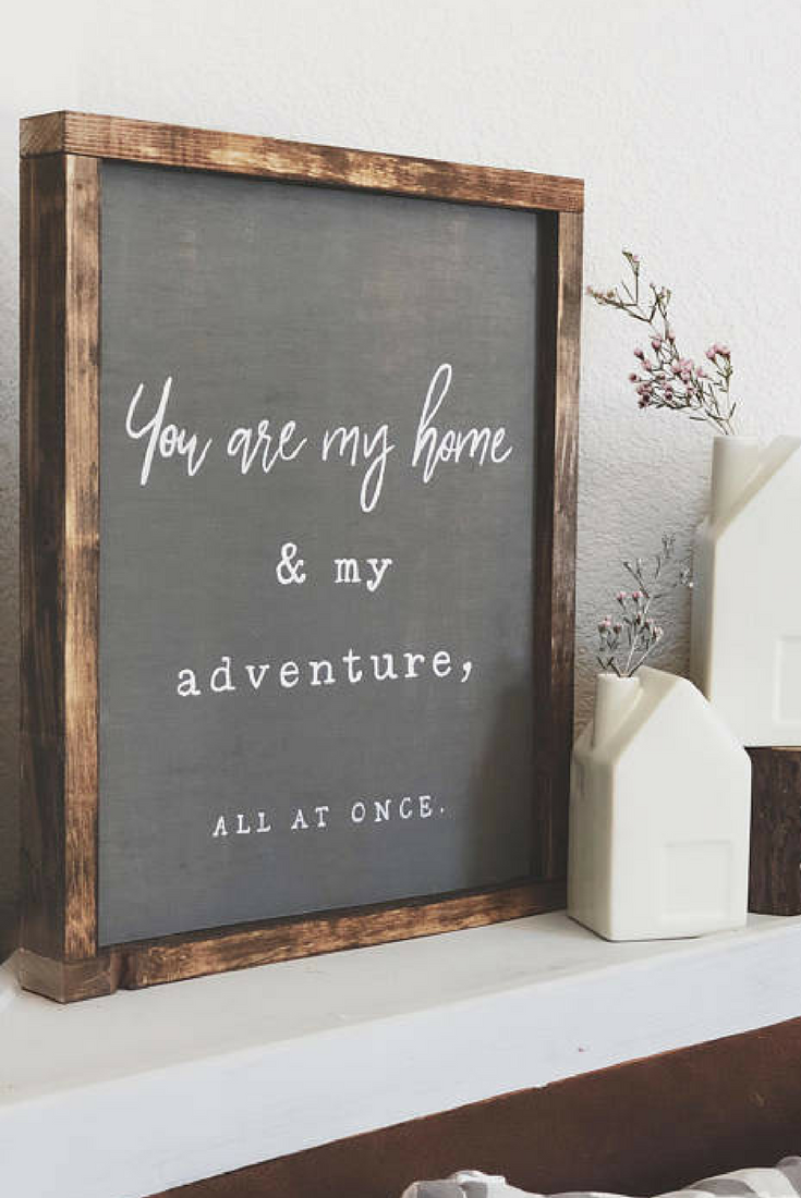 You are my home sign bedroom sign living room decor farmhouse
