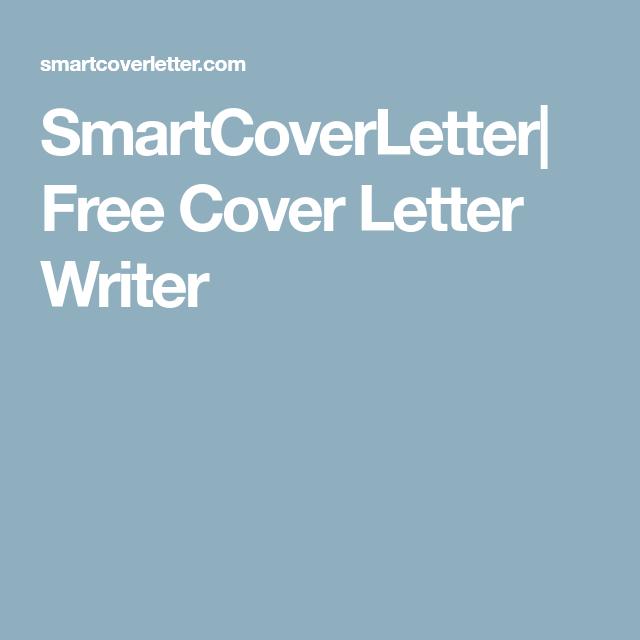 Smartcoverletter Free Cover Letter Writer  Jobs