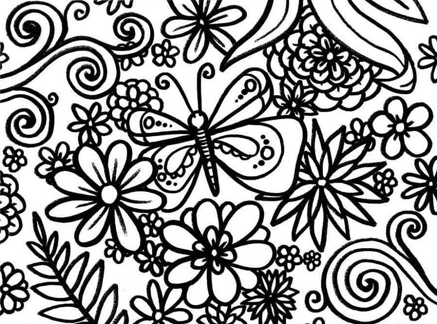 spring coloring pages for middle school Abstract