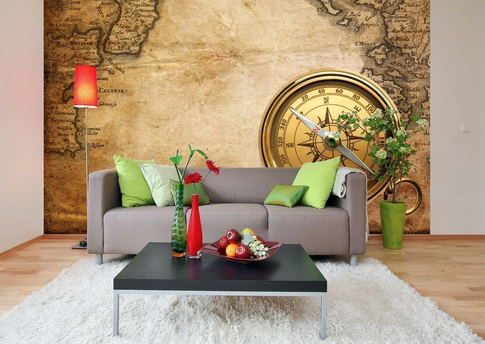 Removable Wallpaper Murals Removable Wallpaper Mural Peel & Stick Old Maps #unbranded .