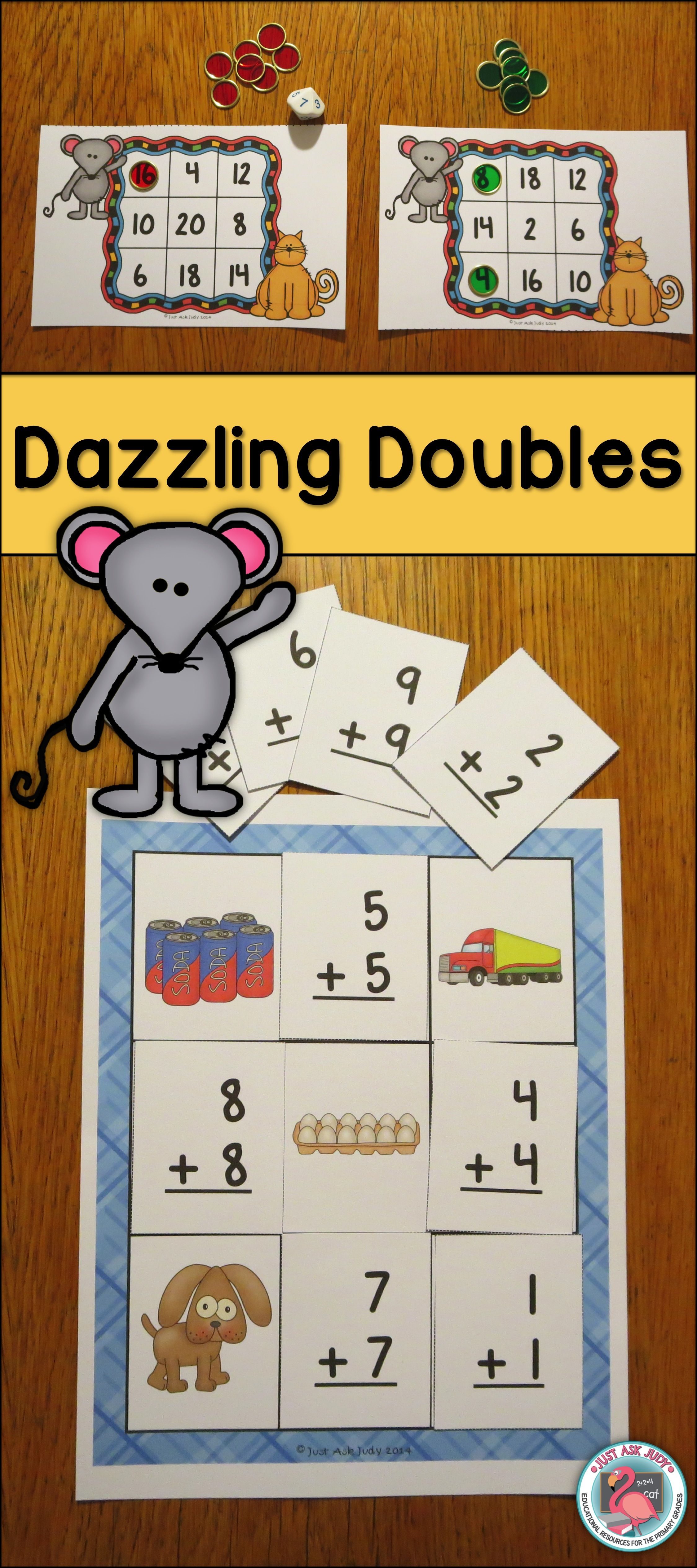 Dazzling Doubles Facts Addition To 20
