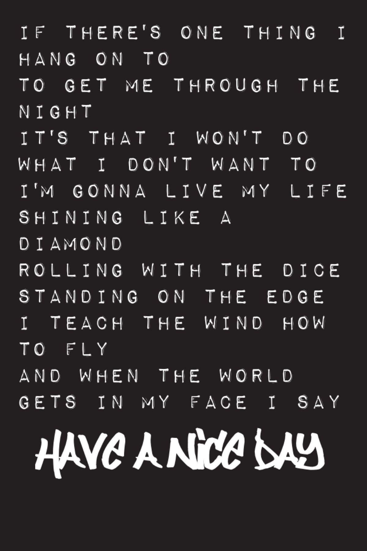 Have A Nice Day Bon Jovi Lyrics In 2019 Bon Jovi Pictures Bon