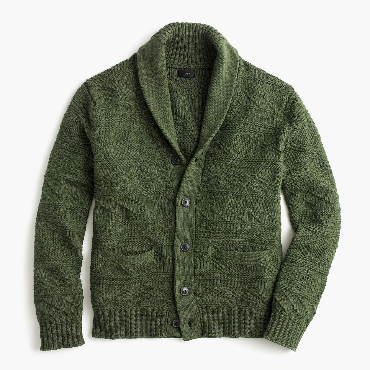 7866ec9b82e2 J.Crew Mens Cotton Guernsey Shawl-Collar Cardigan Sweater (Size XL ...